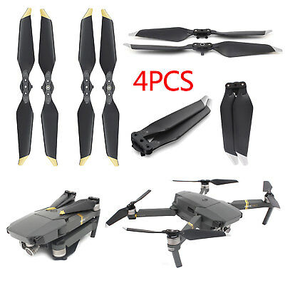 2 Pair DJI Mavic Pro Platinum Low Noise Propellers Quick Release Quiet Blades UK