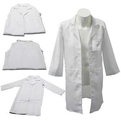 Kids Boy Girl White Lab Coat Doctor Scientist School Fancy Dress Childrens Child