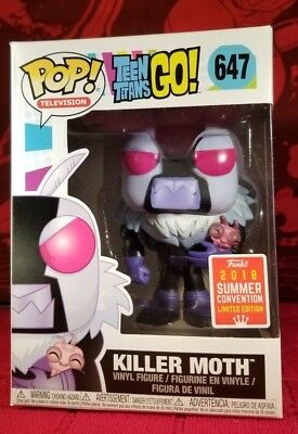 FUNKO POP TEEN Titans Go - Killer Moth #647 - SDCC /Walmart Exclusive -  IN-HAND
