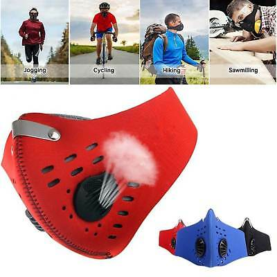 Half Face Respirator Mask Dust Proof Filtered Activated Carbon Filtration USA