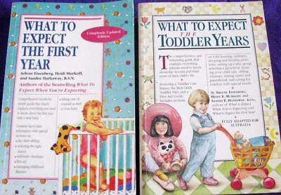 WHAT TO EXPECT THE FIRST YEAR + WHAT TO EXPECT THE TODDLER YEARS - Heidi Murkoff