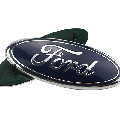 "9"" Blue For Ford Oval Front Grille Emblem or Tailgate for 2004-2014 Ford F-150"