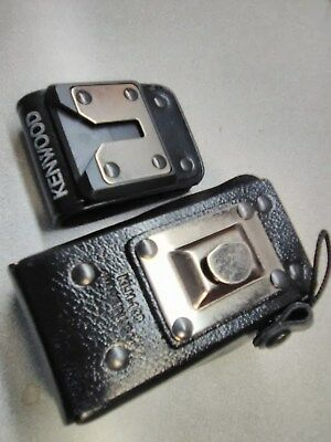 KENWOOD KLH-138 Original  LEATHER HOLSTER for two way radios TK-2360/3360