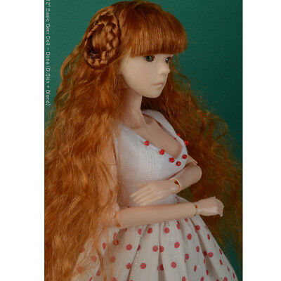 "DOLLMORE 12"" Fashion doll wig Size (3-4)"" Celine FS Long Wig (Carrot)"