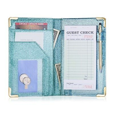 Sonic Server Book Dazzling Glitter Organizer for Waitress Waiter 10 Pockets