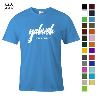 Yahweh Christian Print T Shirt Jesus Christ Graphic Shirts God Design Tee Gift
