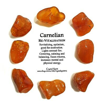 *1* CARNELIAN  Natural Tumbled Stone Approx 20mm-30mm *TRUSTED SELLER*