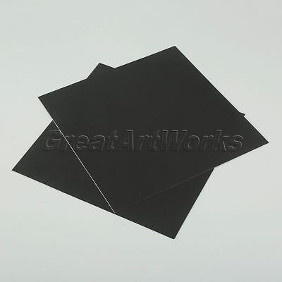 "Black 3D Printer Cleaning Aid Square Heat Bed Platform Sticker 8.43""*8.43"" Metal"