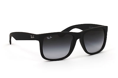 392bc1ace92ee9 Ray-Ban Justin RB4165 601 8G NEU Rubber Black Grey Gradient Sonnenbrille  Brille