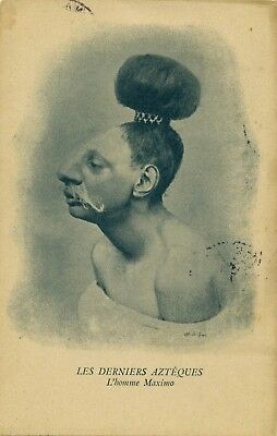 Old Postcard  Of L'homme Maximo  Les Derniers Azteques  -     Mexico