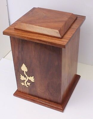 Adult Cemation Urn For Ashes Solid Wood Casket Funeral memorial Extra Large Urn