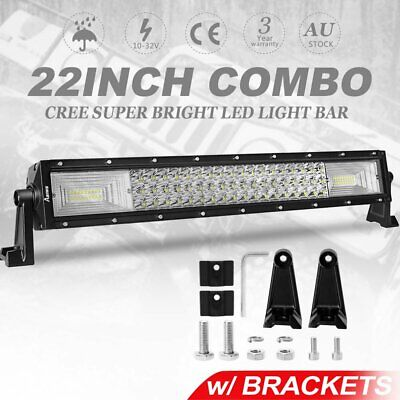 22inch Tri-row CREE LED Work Light Bar Spot Flood Driving Offroad Truck 22/23""