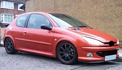 Peugeot 206 98-07 Front Bumper Cup Chin Spoiler Lip Sport Valance Wing Splitter_