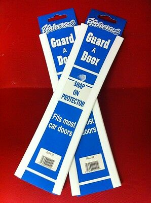 "Car Door Edge Protector 12"" Universal White Scratch Protection Strip Trim x 4"