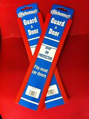 "Car Door Edge Protector 12"" Universal Red Scratch Protection Strip Trim x 4"