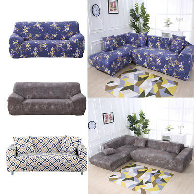 SECTIONAL STRETCH L Shape Sofa Slipcover Couch All-cover for 3 Seater  (74-90in)