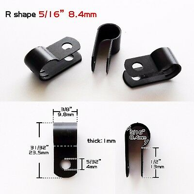 "25pcs Black Nylon 5/16"" Cable Clamp Clip Wire Electrical Hose Management Fixe"