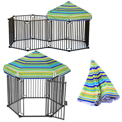 """Large 48"""" or 60"""" Cage Pet Dog Kennel Metal Crate Outside Gazebo Canopy UV Cover"""