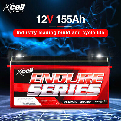 X-CELL AGM Deep Cycle Battery 12V 155Ah Portable Sealed SLA Camping Solar Marine
