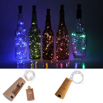 10 20 30LED Cork Shaped LED Copper Wire String Lights Wine Bottle For Xmas Decor