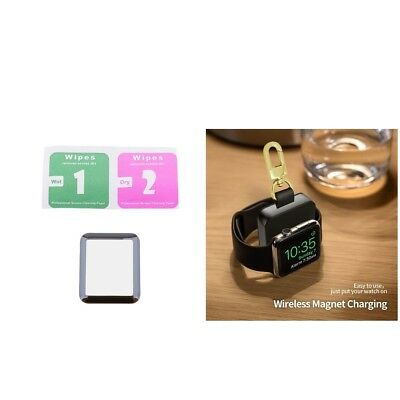 MagiDeal Magnetic Wireless Charger For iWatch 1 2 3+Tempered Glass Film 42mm