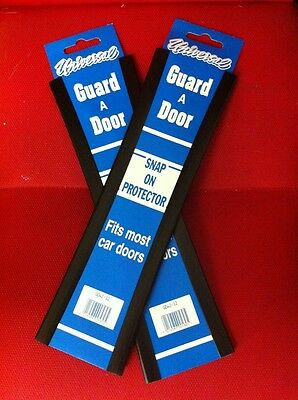 "Car Door Edge Protector 12"" Universal Dark Colours Protection Strips Trim x 4"