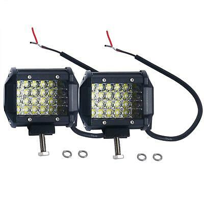 Pair 4 inch LED WORK LIGHT BAR FLOOD CUBE PODS SUV UTE ATV OFFROAD JEEP TRUCK