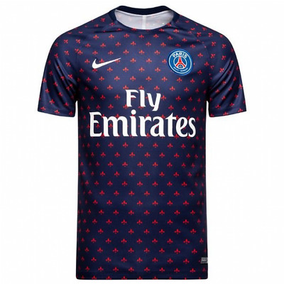 Nike PSG Paris Saint-Germain Squad Pre Match Shirt 2018/19 - Blue - Mens