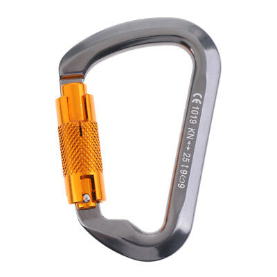 Safety 25KN Strong D Ring Carabiner Auto Self Lock Hook for Climbing Caving