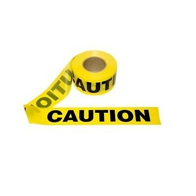 "Safety Tape 3"" X 200' Caution Tape Yellow Halloween Party Decorations"