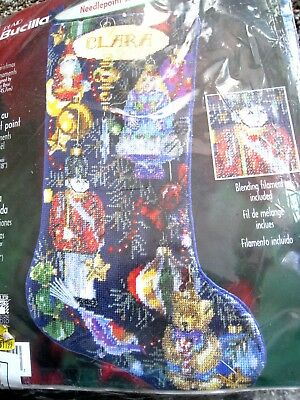 "Holiday Bucilla Needlepoint Stocking Kit,CHRISTMAS ORNAMENTS,Rossi,84645,18"",NIP"