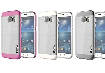 Samsung Galaxy S7 Case - Brushed Metal Dual Layer Armor Ultra-thin Cover