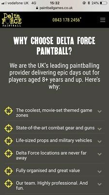 🌟 Delta Force Paintball Voucher 10 People🌟
