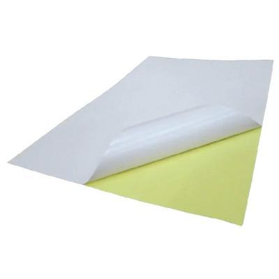 GoldenTrading 100 x A4 White Glossy Self Adhesive Sticker Paper Full Sheet Label