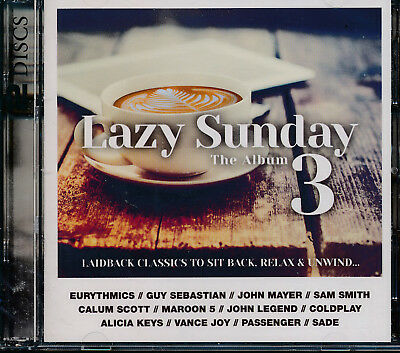 Lazy Sunday The Album  3 2-disc CD NEW Maroon 5 Coldplay Dido Hozier