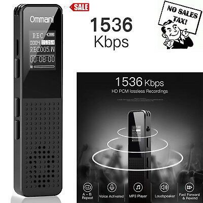 "Voice Activated Digital Listening Device / Audio Bug 8GB ""Bugging"" Spy Recorder"