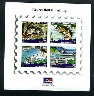 2017 ZIMBABWE Recreational FISHING Imperf MINISHEET MS 31st JAN 2017