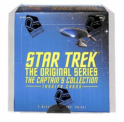 2018 Star Trek The Original Series Captain's Factory Rittenhouse Sealed Box