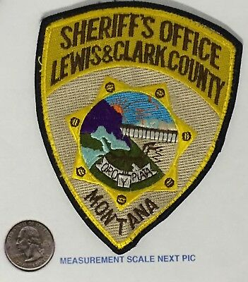 Lewis & Clark County Montana Sheriff's Department Patch Uniform Removed