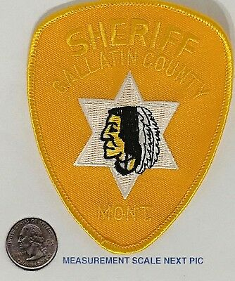 Gallatin County Montana Sheriff's Department Patch Vintage Unused