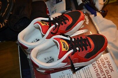 quality design 1423c 13094 Nike Air Max 90 Black Varsity Red White Size 11 Style 325018-061 shoes 2008