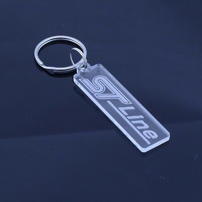 Ford ST Line Badge Car Keyring - Handmade Laser Cut Clear Acrylic Gift