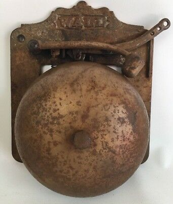 Antique P WALL Mfg Supply Co. Bell Boxing Gas Station Fire Alarm Carnival Vtg.