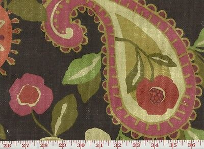 Brown Floral Paisley Drapery Upholstery Fabric By Fabricut Loremo Cl
