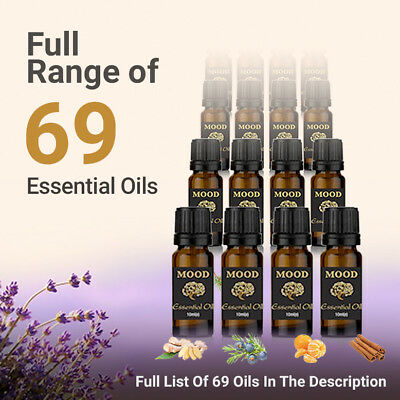 Essential Oils Pure 10ml Aromatherapy Natural Organic Oil 69 Fragrances
