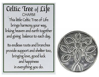 Celtic Tree Of Life Zinc Pocket Token with Story Card by Ganz