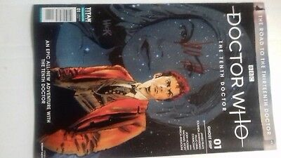 Doctor Who 10th Doctor : Road to the 13th Doctor Ghost Ship # 1 Signed Brand New