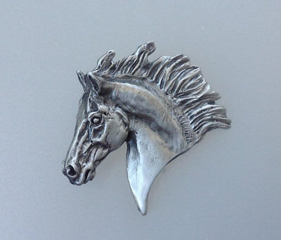 Sculpture horse Slider Pewter Pendant Satin finish Zimmer Equestrian Jewelry