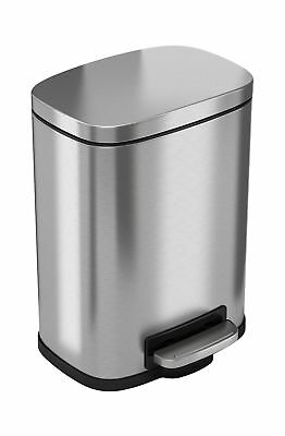 iTouchless Softstep 1.32 Gallon Stainless Steel Step Trash Can, 5 Liter Pedal...