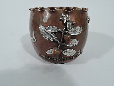 Gorham Bowl - Y50 - Antique Japonesque - American Mixed Metal Silver Copper